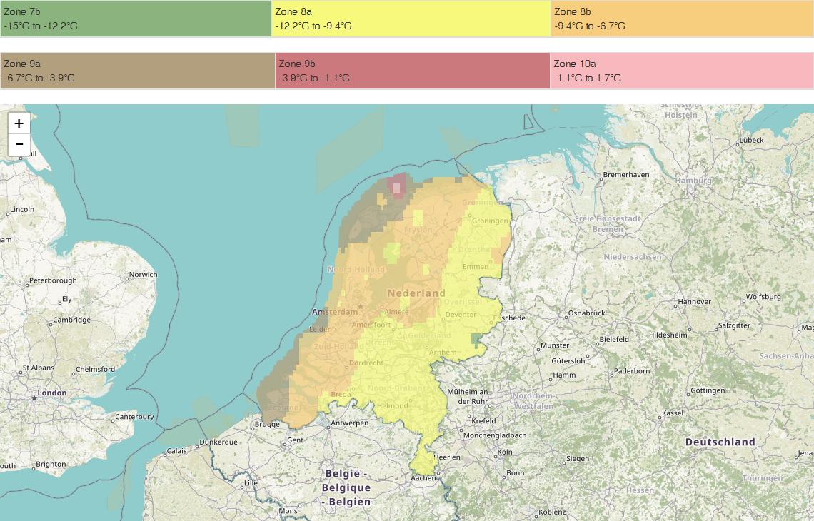 Nederland-Hardiness-map