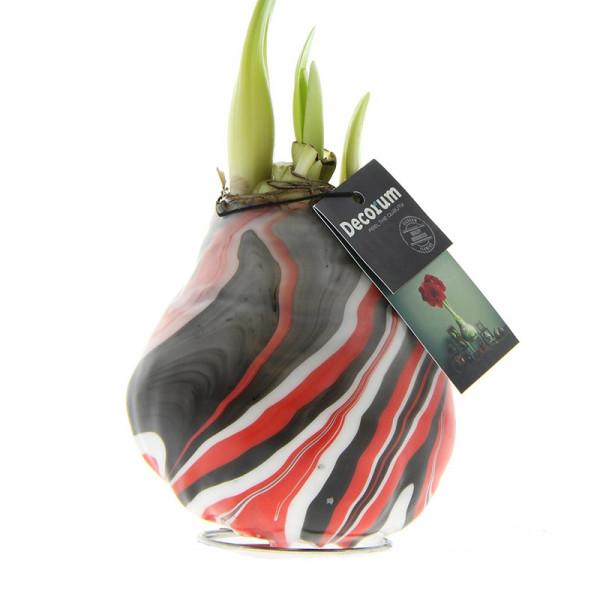 Wax Amaryllis XL Artooz Earth Red